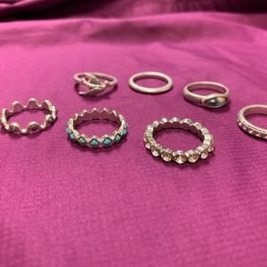 Lucky Brand Jewelry - Set of 7 Lucky Brand Rings Silver